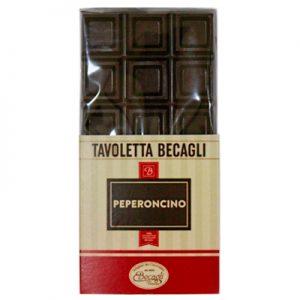 Tavolatta cioccolato aromatizzato peperoncino peckaging